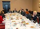 Пресс-завтрак с руководителями страховой компании «Сбербанк страхование», Москва, 2014г.